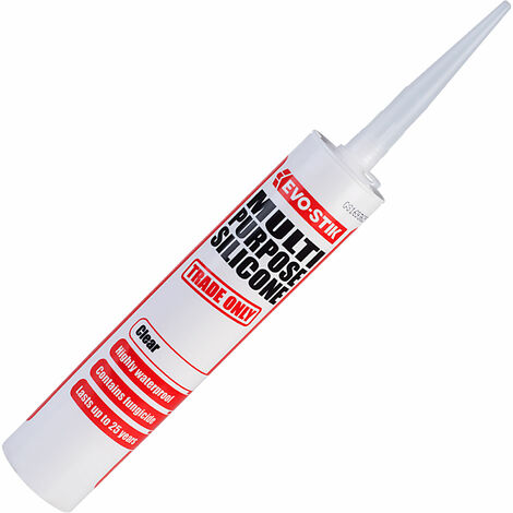 Evo-Stik 483422 Multipurpose Silicone Sealant Clear C20 310ml