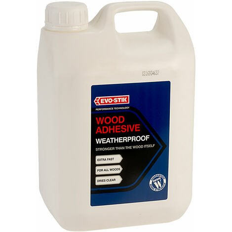 Evo-Stik 718210 Resin W Weatherproof Exterior Wood Adhesive 2.5 Litre