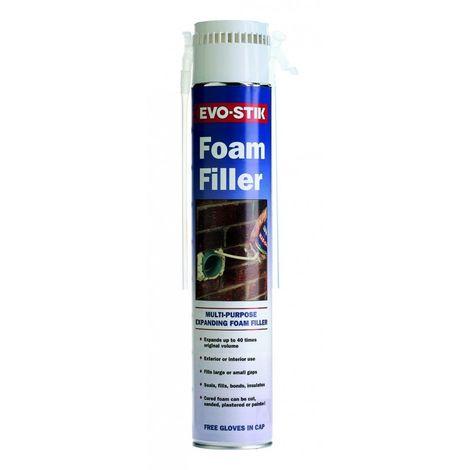 Evo Stik Polyurethane Expanding Foam Filler 750ml Straw