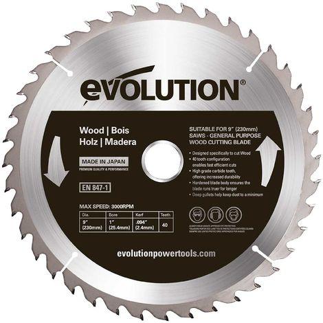 Evolution Evoblade 230 SS - Lama circolare TCT per acciaio INOX, 230 mm
