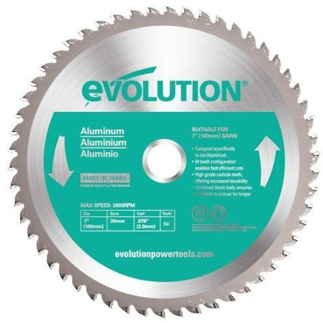 Evolution Evoblade AL Lame TCT de scie circulaire pour aluminium 180mm