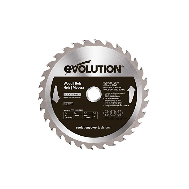 Image of Htc Evolution - Evolution Wood Carbide-tipped Blade, 180 Mm