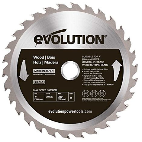 Evolution EVOBLADESS TCT Saw Blade for Stainless Steel 180mm - 48 Teeth