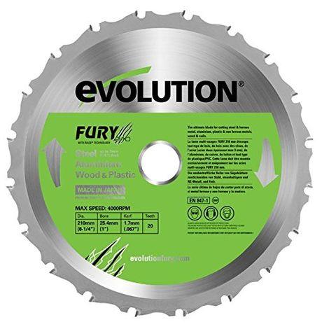 Evolution FURY - Lama multifunzione, 210 mm