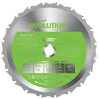 Evolution FURY Multi-Purpose TCT Circular Saw Blade 210 x 25.4mm x 20T