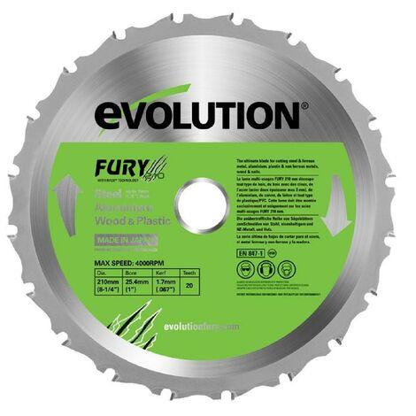 EVOLUTION Lame multi-usages FURY 210mm