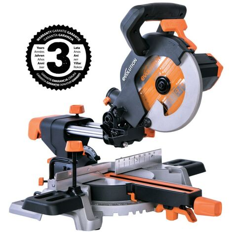 Evolution Power Tools R210SMS+ 210MM Multi Purpose Single Bevel Sliding Compound