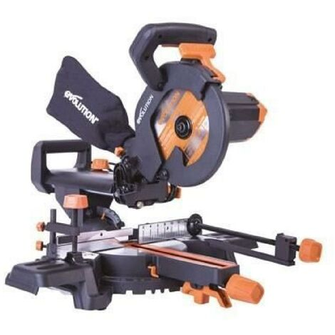 EVOLUTION Power Tools Scie a onglet radiale multi-matériaux R210SMS+
