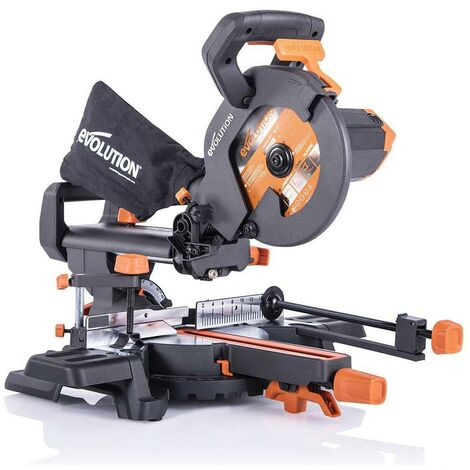 """main image of """"EVOLUTION R210SMS+ 210mm Mitre saw 110v with free stands Multi material Blade"""""""