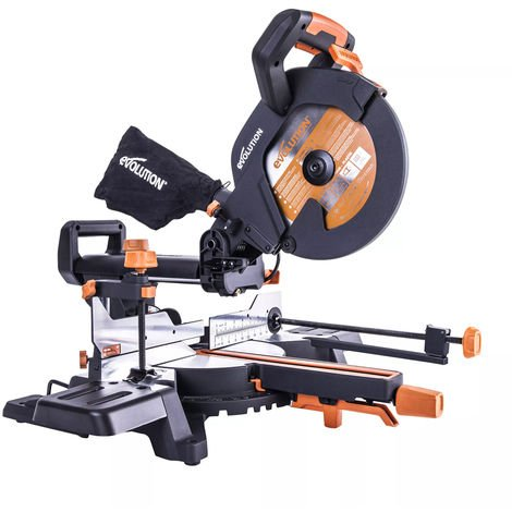 Evolution R255SMS+ 240V 255mm Multi-Material Sliding Mitre Saw:240V