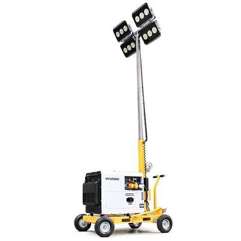 Evopower LT600-LED-D 600W LED Mobile Lighting Tower With DHY6000SE 5.2kW Diesel Generator