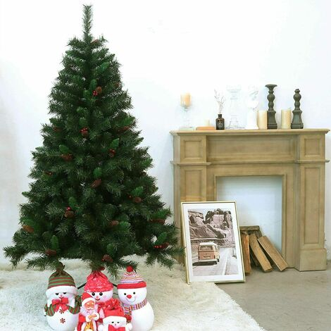 Evre Artificial Christmas Tree With Pine Cones & Berries 8ft with PVC Tips