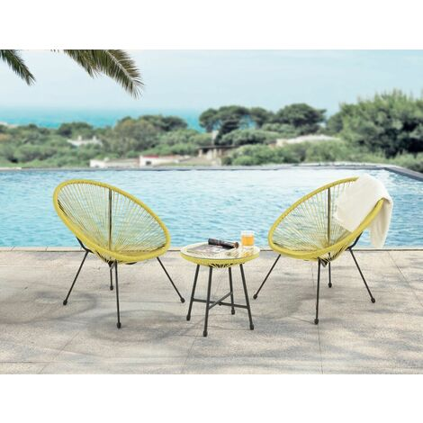 "main image of ""Evre Goa Acapulco Styled Garden Furniture Set Bistro Patio Indoor Outdoor Teal"""