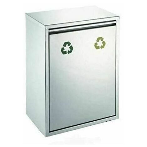 Evre Stainless Steel Recycling Bin With Removable Multi Compartments 30L(2x15L)