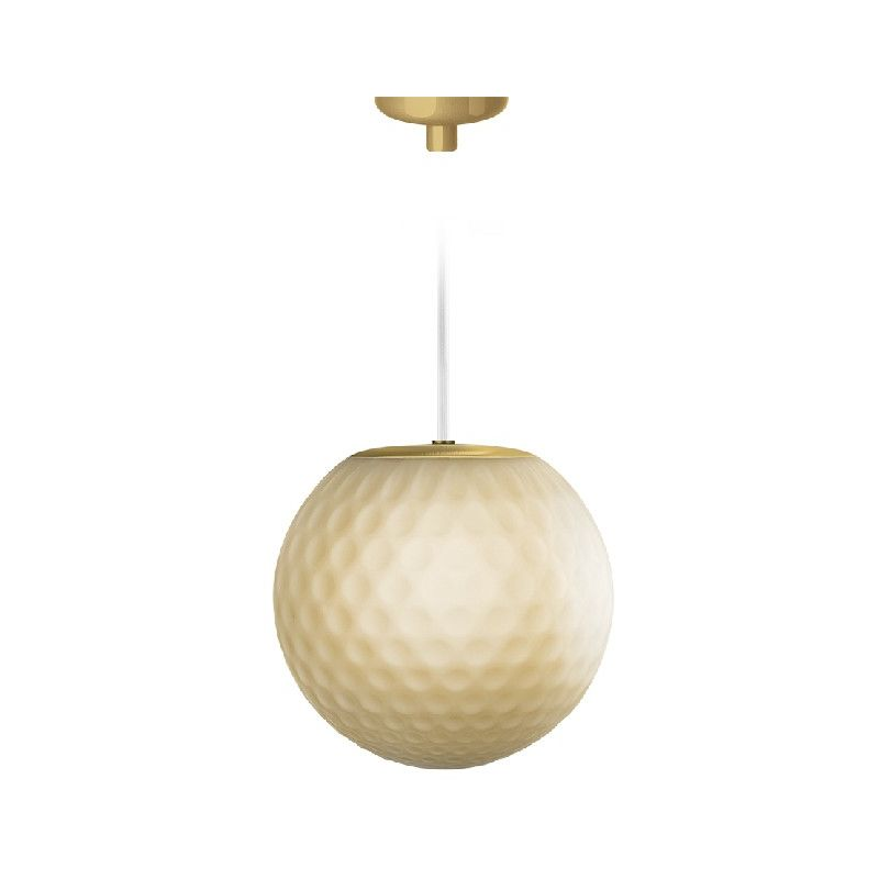 Homemania - Evy Haengelampe - Kronleuchter - Deckenkronleuchter - Gold aus Glas, 15,5 x 15,5 x 15,2 cm, 1 x G9, Max 48W, 220-240V