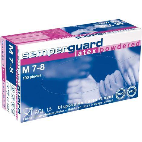 EW-HDS. SEMP. Guard 0441, látex, gr. M (caja a 100 PC)