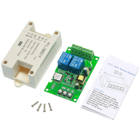 eWeLink, Interruptor Smart Wifi, Modulo universal, 2 canales, AC85-250V