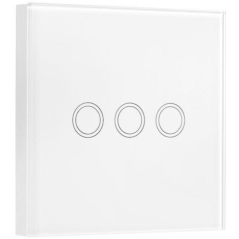 eWeLink, panel tactil de pared, 3 canales, tipo 86