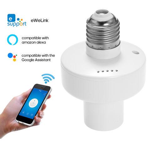 Ewelink Wi-Fi Titulaire De La Lampe Intelligente Intelligente Vie A La Maison De Commande Vocale Commutateur Compatible Avec Google Accueil / Nest Et Amazon-Ale-Xa