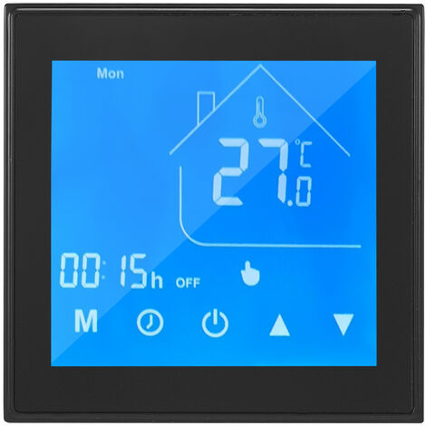 Ewelink WiFi Warmwasserbereitung Smart Thermostat Wochentliche Programmierleistung 5A Modell: HC-T010-EWF-GA (Warmwasserbereitung) Schwarz