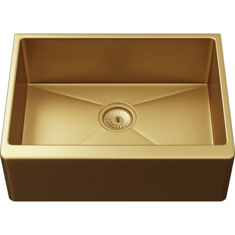 Excel 1 Bowl Belfast Style Sink & Waste - Oversize: 600x450x220mm - Gold Finish