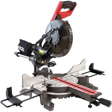 """main image of """"Excel 10"""" 255mm Sliding Mitre Saw Double Bevel 2000W/240V with Laser"""""""