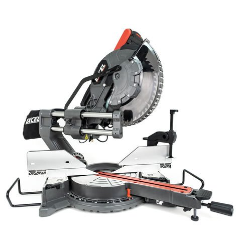 """main image of """"Excel 12"""" 305mm Sliding Mitre Saw Double Bevel 1800W/240V with Laser"""""""