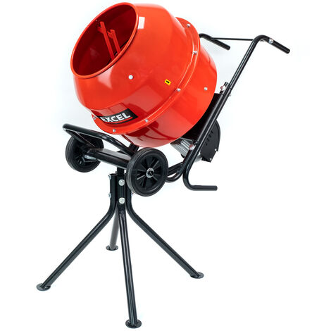 """main image of """"Excel 140L Portable Electric Cement Concrete Mixer 240V/110V/800W with Wheels"""""""