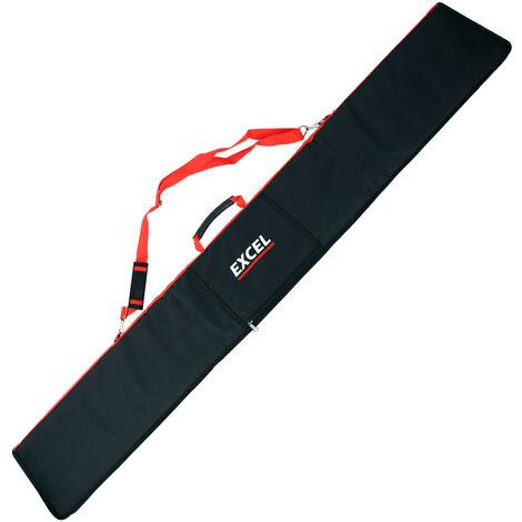 "main image of ""Excel 1.5m Guide Rail Bag for Makita DeWalt Plunge Saw - Red"""
