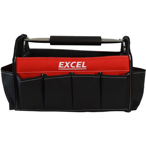 """Excel 16"""" Electrician Tote Bag Open Top Heavy Duty Tool Storage Chest Bag"""