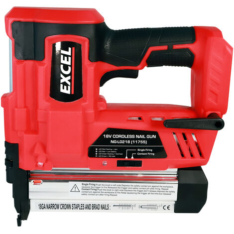 Excel 18V Cordless 2nd Fix Nailer Body Only EXL592B:18V