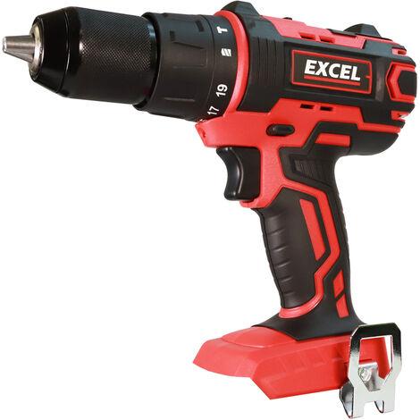 Excel 18V Cordless Combi Drill Body Only EXL558B:18V