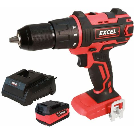 Excel 18V Cordless Combi Drill Driver with 1 x 5.0Ah Battery & Charger EXL558B:18V