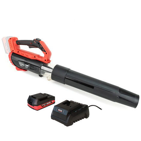 """main image of """"Excel 18V Cordless Garden Leaf Blower 2 Level Speed with 1 x 2.0Ah Battery & Charger:18V"""""""