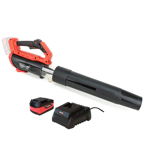 Excel 18V Cordless Garden Leaf Blower 2 Level Speed with 1 x 5.0Ah Battery & Charger:18V