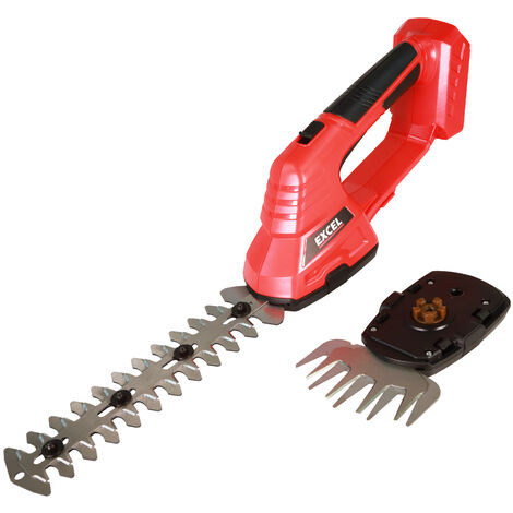 Excel 18V Cordless Hedge Trimmer Cutter & Grass Shear 2-In-1 Body Only:18V