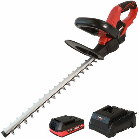 Excel 18V Cordless Hedge Trimmer with 1 x 2.0Ah Battery + Fast Charger EXL5193:18V