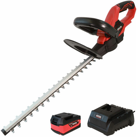 Excel 18V Cordless Hedge Trimmer with 1 x 5.0Ah Battery + Fast Charger EXL5194:18V