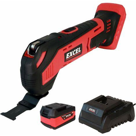 Excel 18V Cordless Oscillating Multi Tool + 1 x 2.0Ah Battery & Charger EXL551B:18V