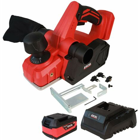 Excel 18V Cordless Planer 82mm with 1 x 5.0Ah Battery & Charger EXL580B:18V