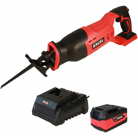 """main image of """"Excel 18V Cordless Reciprocating Saw with 1 x 5.0Ah Battery & Charger EXL586B:18V"""""""