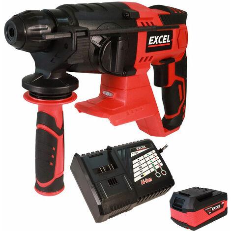 Excel 18V Cordless SDS+ Rotary Hammer Drill 1 x 5.0Ah Battery & Charger EXL554B:18V