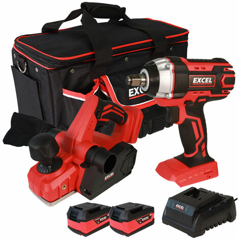 Excel 18V Cordless Twin Pack with 2 x 5.0Ah Batteries & Charger in Bag EXL5088:18V