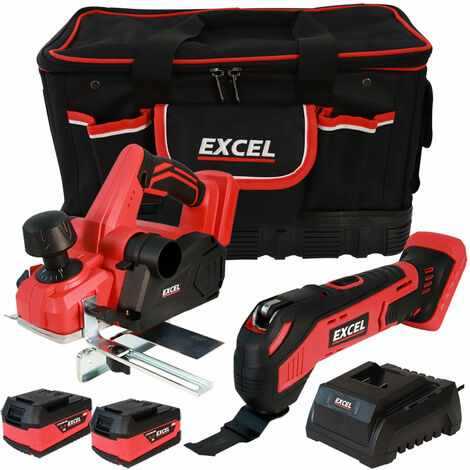 Excel 18V Cordless Twin Pack with 2 x 5.0Ah Batteries & Charger in Bag EXL5118:18V