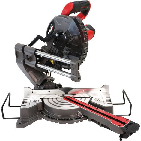 Excel 216mm Mitre Saw 240V Large Base Laser with Stand Extra 1 x 48T Blade