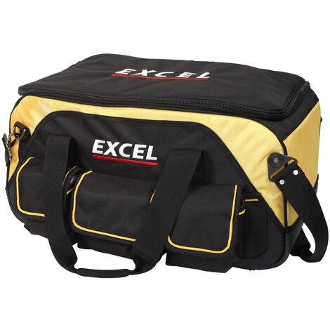 Excel 23in Heavy Duty Rigid Tool Bag with Wheels