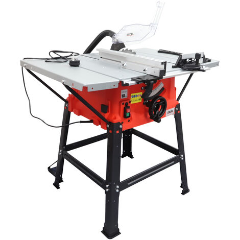 """main image of """"Excel 250mm Table Saw 240V with Legstand Side Extensions & Blade 1800W"""""""