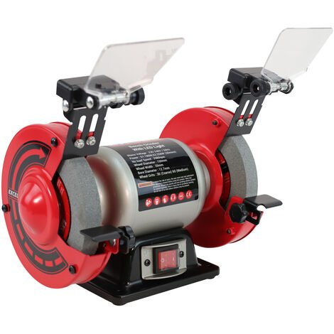 """Excel 250W Bench Grinder 6"""" Double Wheel with LED Light"""