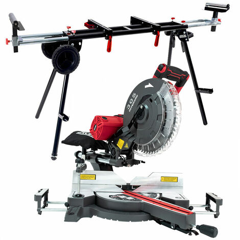 """main image of """"Excel 305mm Mitre Saw 240V Sliding Double Bevel 2000W with Universal Wheel Stand"""""""