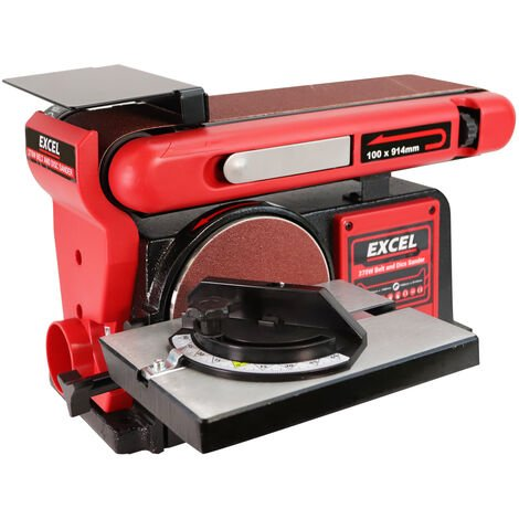 "Excel 370W 4"" Electric Bench Belt & Disc Sander Heavy Duty 240V"